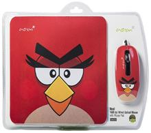 Acron OM299 Angry Birds Optical Mouse With Mousepad